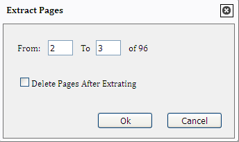 split pdf pages into a new document